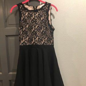 Francesca's Fit & Flare Lace Black Dress